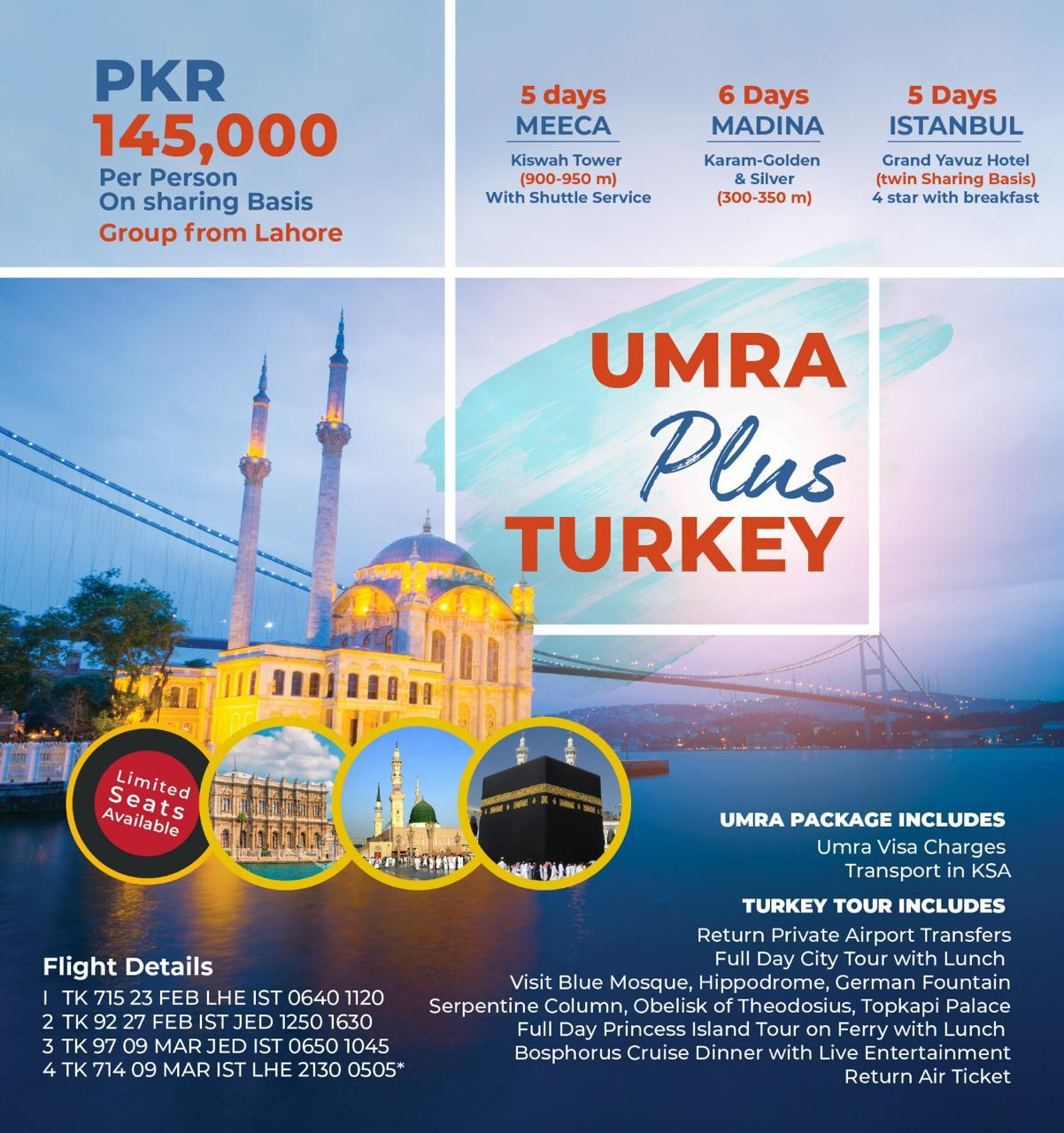Best Umrah plus Turkey Packages
